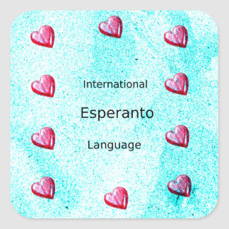 Esperanto International Language Design Square Sticker