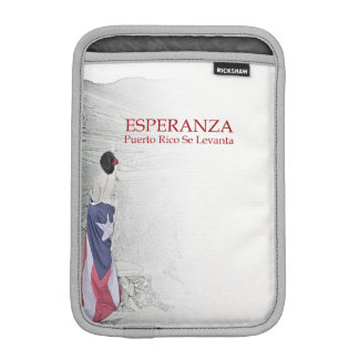Esperanza - image with text iPad mini sleeve