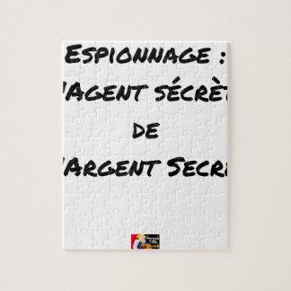 ESPIONAGE: THE AGENT SECRETES SECRET MONEY JIGSAW PUZZLE