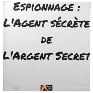 ESPIONAGE: THE AGENT SECRETES SECRET MONEY NAPKIN