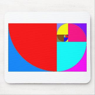 espiral fibonacci mouse pad