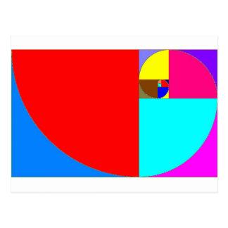 espiral fibonacci postcard