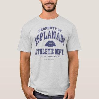 Esplanade T-shirt (blue lettering)