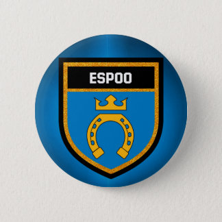 Espoo Flag 6 Cm Round Badge