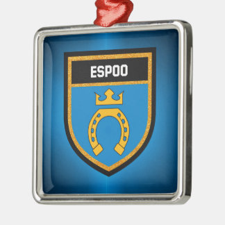 Espoo Flag Metal Ornament