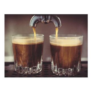 Espresso Coffee Shots Postcard