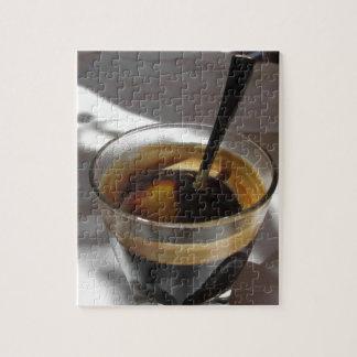 Espresso coffee with rum, sugar and lemon rind jigsaw puzzle