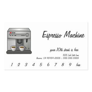 Espresso Machine Business Cards