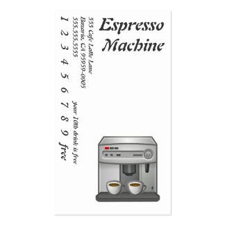 Espresso Machine Business Card Template
