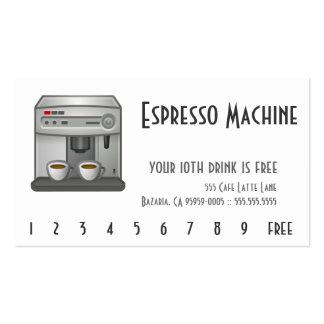 Espresso Machine Business Card