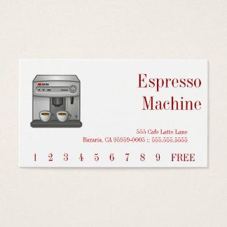 Espresso Machine Red Text