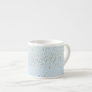 Espresso Mug-Petite Golden Stars-Blue Espresso Cup