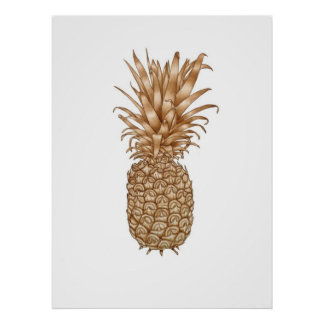 Espresso Pineapple Poster