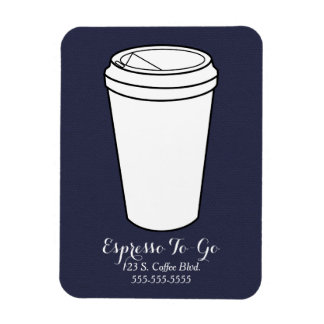 Espresso To-Go Business midnight faux flannel Vinyl Magnet