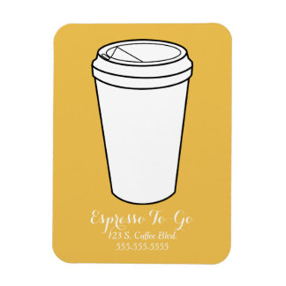 Espresso To-Go Business mustard background Magnet