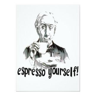 """Espresso Yourself 5.5"""" X 7.5"""" Invitation Card"""