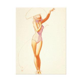 Esquire magazine illustration,July 1937 Pin Up Art Canvas Print