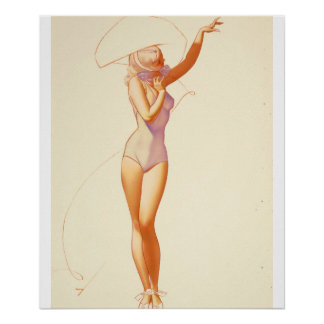 Esquire magazine illustration,July 1937 Pin Up Art Poster