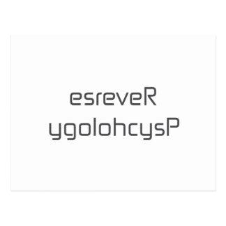 esreveR ygolohcysP black blue white gray Postcard