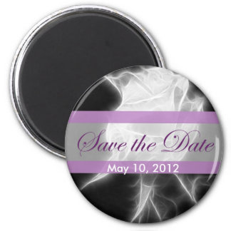 Essence of a Rose 2 Save the Date Wedding 6 Cm Round Magnet