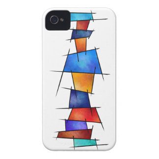 Esseniumos V1 - square abstract without back iPhone 4 Covers