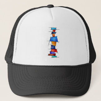 Esseniumos V1 - square abstract without back Trucker Hat