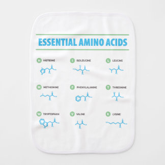 Essential Amino Acids Burp Cloth
