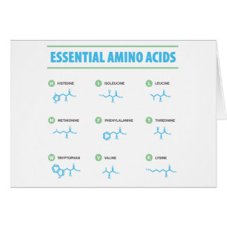 Essential Amino Acids Card