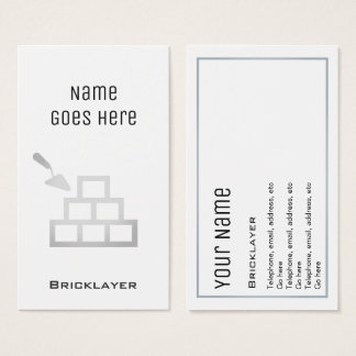 """""""Essential"""" Bricklayer Business Cards"""