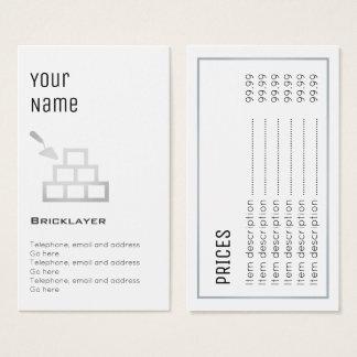 """Essential"" Bricklayer Price Cards"