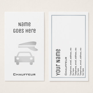 """Essential"" Chauffeur Business Cards"