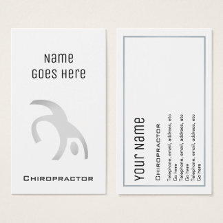 """Essential"" Chiropractor Business Cards"
