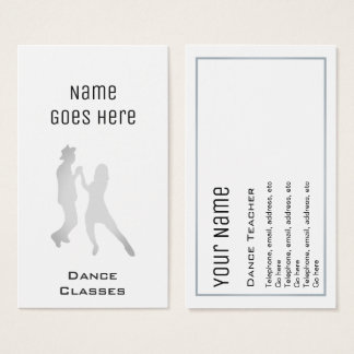 """""""Essential"""" Dance Business Cards"""