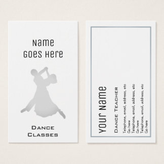 """Essential"" Dance Business Cards"