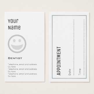 """Essential"" Dentist Appointment Cards"
