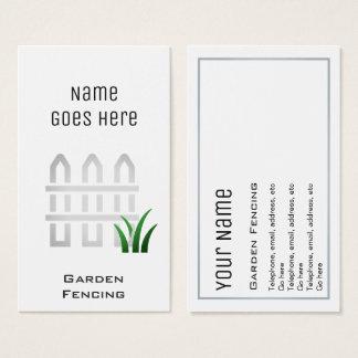 """Essential"" Garden Fencer Business Cards"