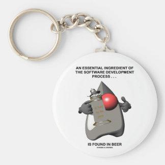 Essential Ingredient In Software Development Beer Key Ring