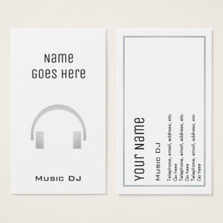 """Essential"" Music DJ Business Cards"