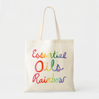 Essential Oils Rainbow Tote Bag
