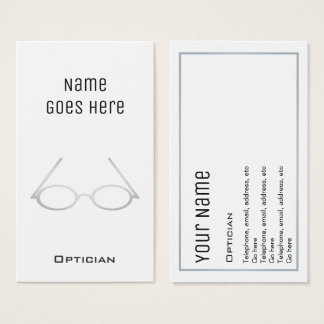 """Essential"" Optician Business Cards"