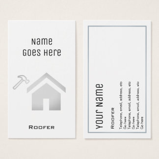 """Essential"" Roofer Business Cards"