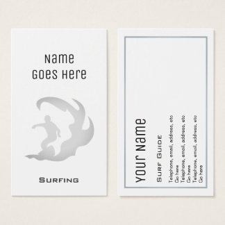 """Essential"" Surfing Business Cards"