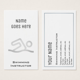 """Essential"" Swimming Instructor Business Cards"