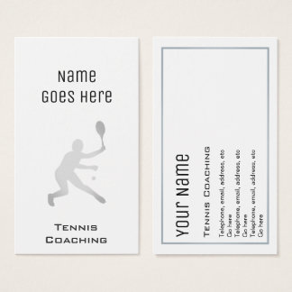 """""""Essential"""" Tennis Coaching Business Cards"""