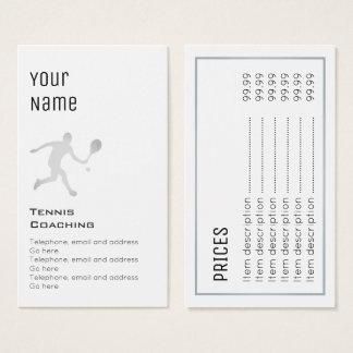 """Essential"" Tennis Coaching Price Cards"