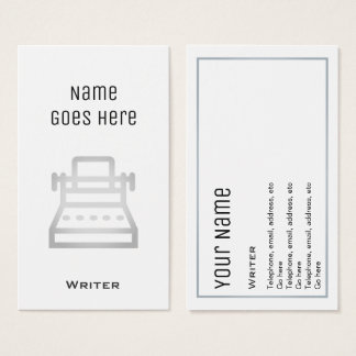 """Essential"" Writer Business Cards"