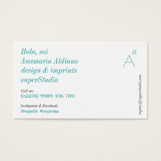 Essentials greenish business card