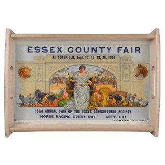 Essex County Fair Topsfield Vintage Postcard Tray