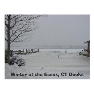 Essex Dock, Winter at the Essex, CT Docks Postcard