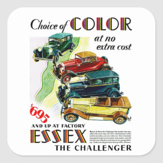 Essex The Challenger Automobile Square Sticker